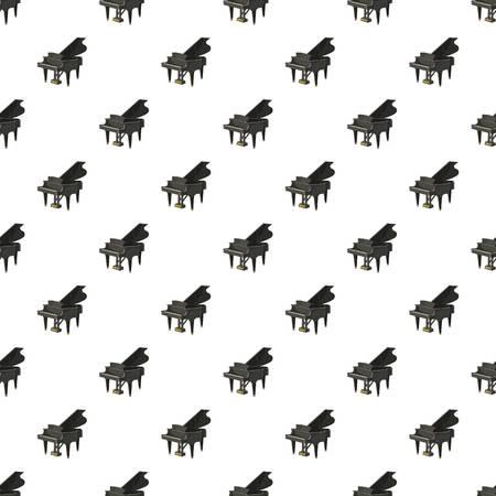 Patrón de piano de cola negro