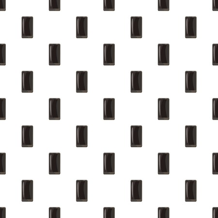 touchpad: Black smartphone pattern seamless repeat in cartoon style vector illustration Illustration