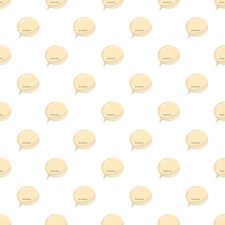 dialog baloon: Glossy speech bubble pattern seamless repeat in cartoon style vector illustration