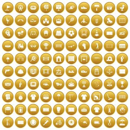 100 icônes de jeux de jeu d & # 39 Banque d'images - 82801534