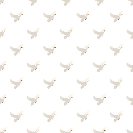 White pigeon pattern Illustration
