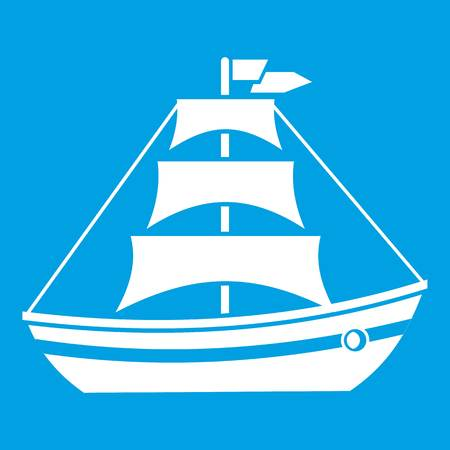 water quality: Boat with sails icon white