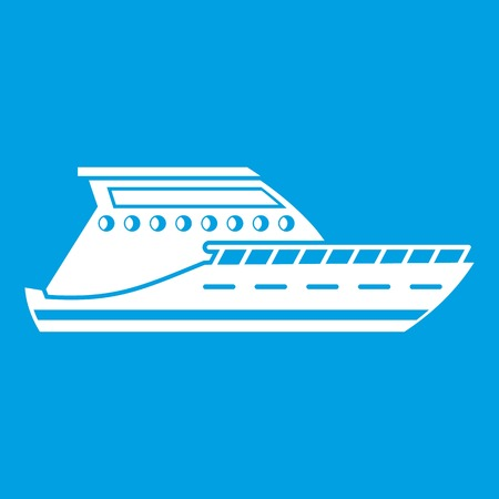 water quality: Yacht icon white