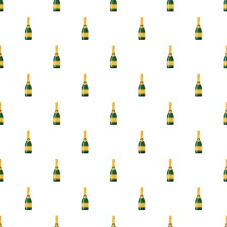 glass reflection: Champagne bottle pattern