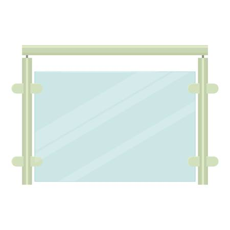 Metal fence icon, cartoon style