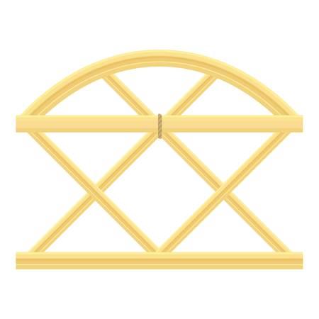 Trellis fence icon, cartoon style