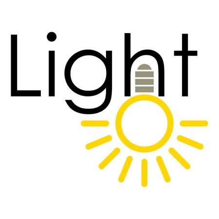 Light icon, cartoon style