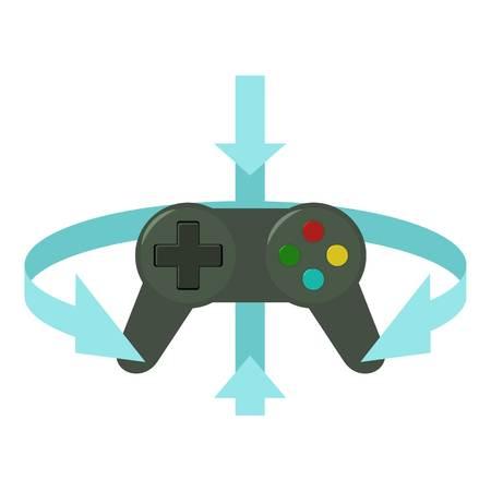 game drive: Joystick icon, cartoon style Illustration