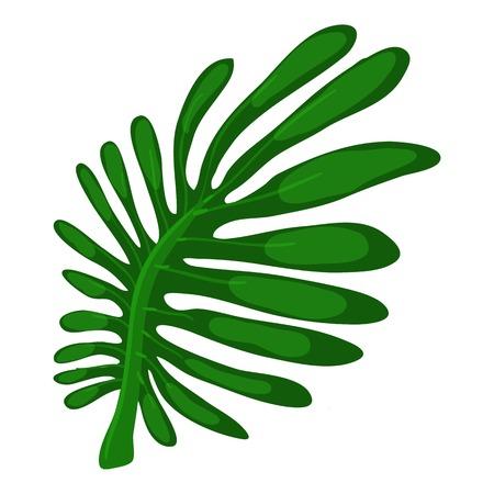 vegetate: Milkshare leaf icon, cartoon style