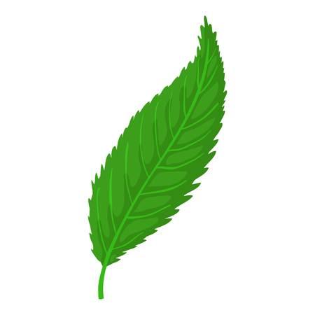 vegetate: Leaf icon, cartoon style