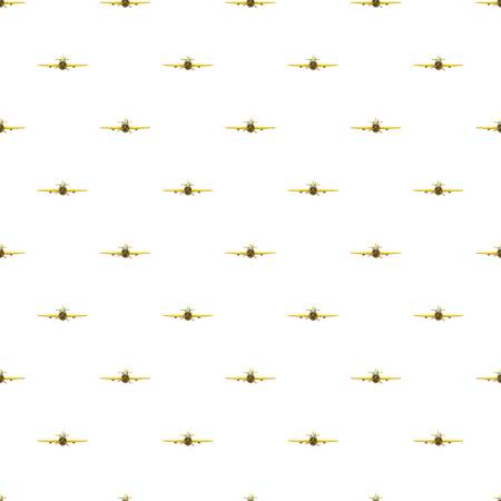 Airplane rear view pattern seamless repeat in cartoon style vector illustration Illustration