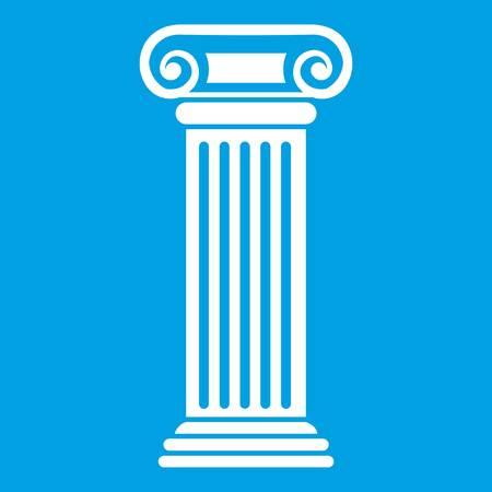 Icône de la colonne romaine blanc Banque d'images - 82826977