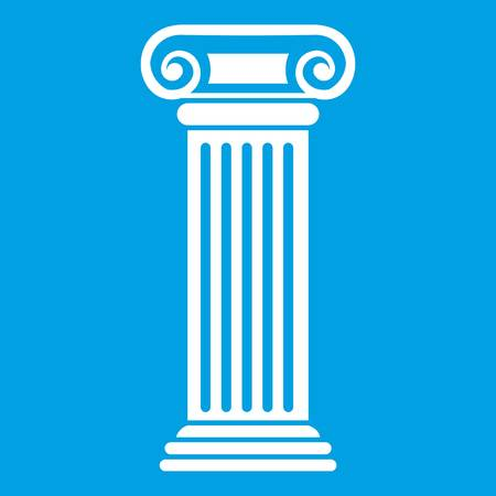 Icône de la colonne romaine blanc