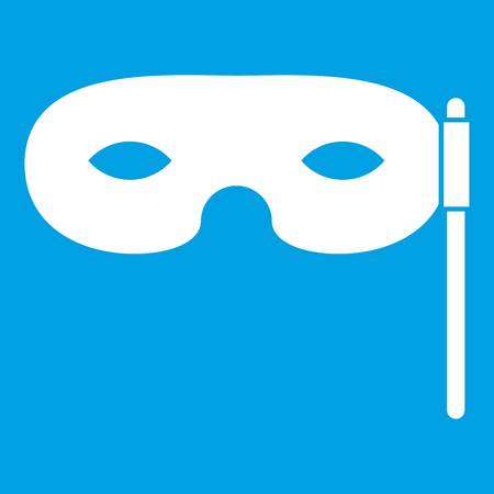 theatre masks: Carnival mask icon white