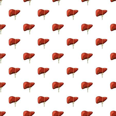 Human liver pattern seamless repeat in cartoon style vector illustration Illustration