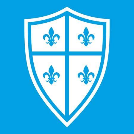 combatant: Royal shield icon white