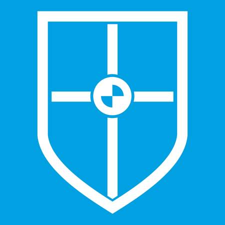 combatant: Shield for fight icon white