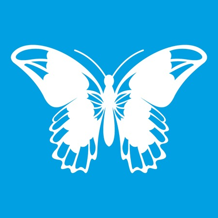 Admiral butterfly icon white