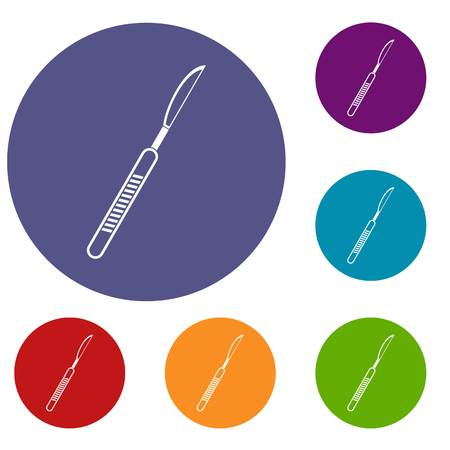 Scalpel icons set Illustration
