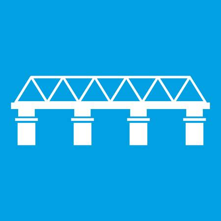 Bridge-Symbol weiß Standard-Bild - 82832396