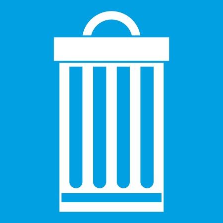 refuse: Trash can icon white Illustration