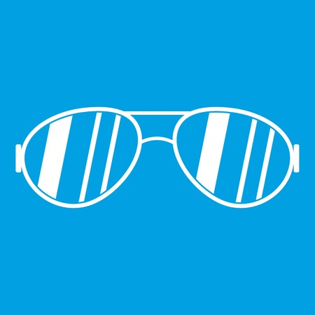 Glasses icon white