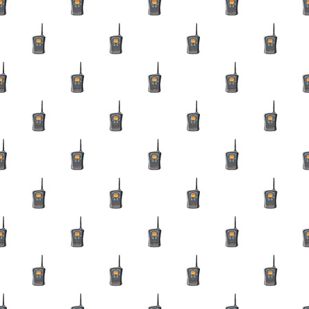 simplex: Portable handheld radio pattern seamless repeat in cartoon style vector illustration
