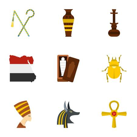 Cairo travel icons set. Cartoon set of 9 Cairo travel vector icons for web isolated on white background