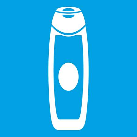 Deodorant icon white isolated on blue background vector illustration
