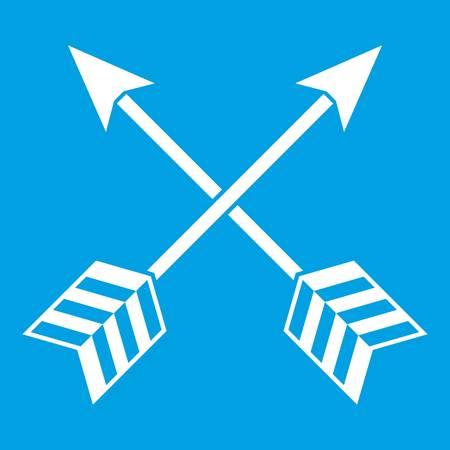 Arrows LGBT icon white Illustration