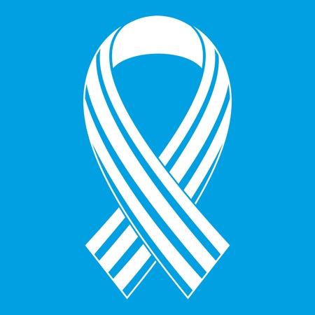 Ribbon LGBT icon white