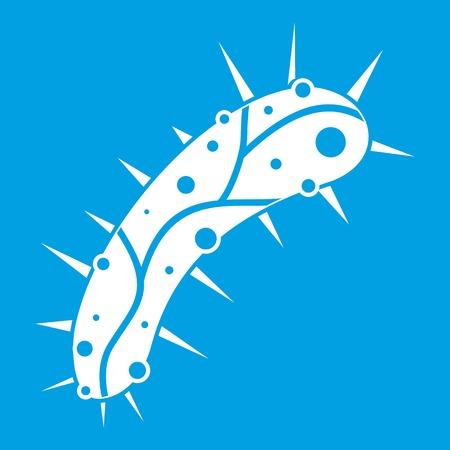 fighting cancer: Virus icon white Illustration