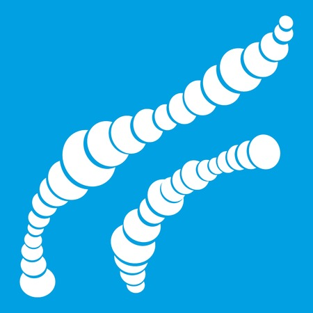 fighting cancer: Spiral bacteria icon white