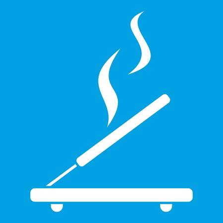 Incense sticks icon white