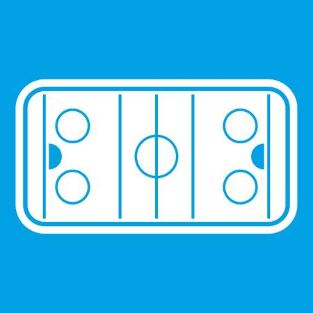 Stadium icon white isolated on blue background vector illustration Illustration