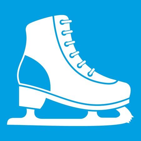 Ice skate icon white Illustration