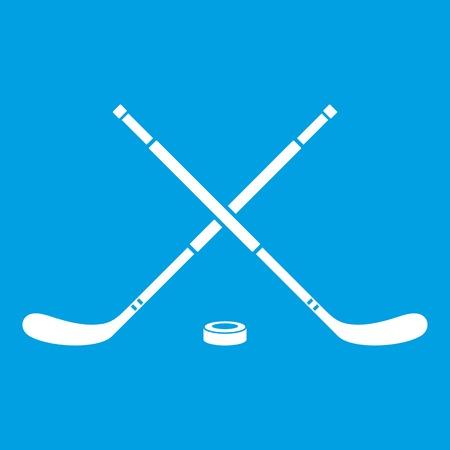 icehockey: Hockey icon white Illustration