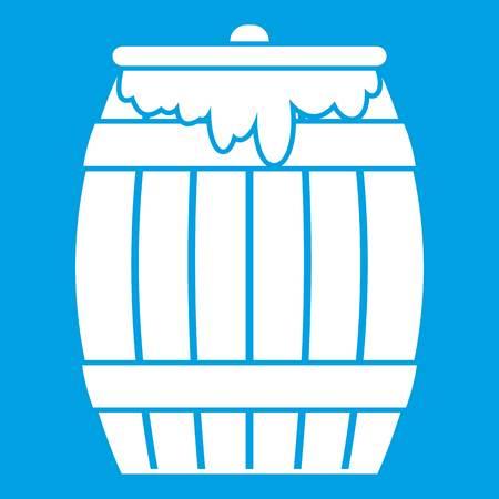 Honey keg icon white