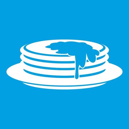 provision: Pancakes icon white Illustration