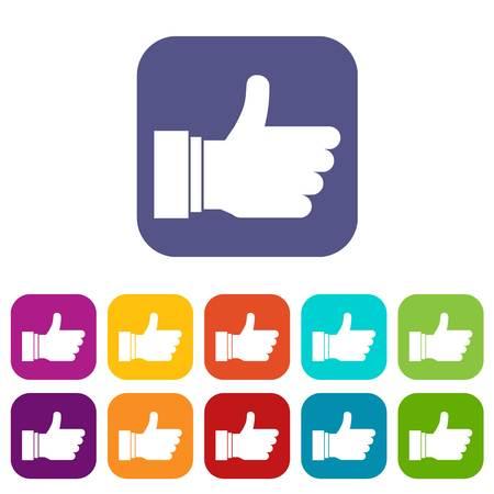 validation: Thumb up sign icons set Illustration