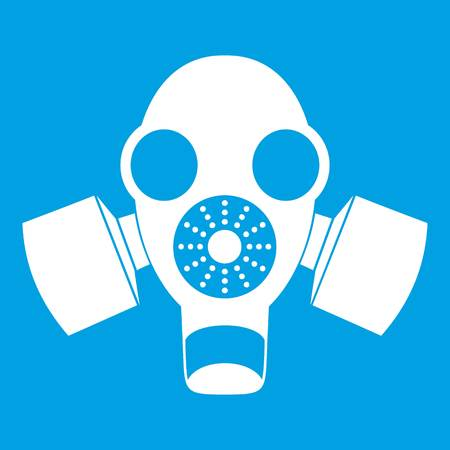 White gas mask icon