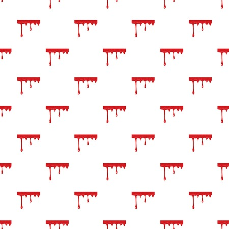 Flowing drop of blood pattern seamless repeat in cartoon style vector illustration Illustration
