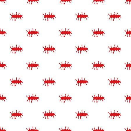 Pool of blood pattern seamless repeat in cartoon style vector illustration