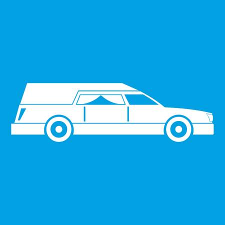 Hearse icon white Illustration