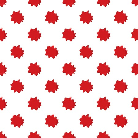 Red blood pattern seamless repeat in cartoon style vector illustration Illustration