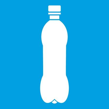 Bottle icon white isolated on blue background vector illustration