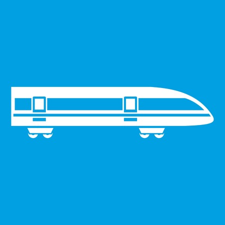 electric train: Modern high speed train icon white Illustration