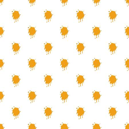 Honey stain pattern seamless repeat in cartoon style vector illustration Illustration