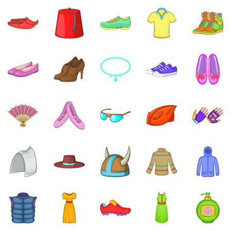 drill: Women things icons set. Cartoon set of 25 women things icons for web isolated on white background