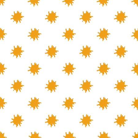 Large puddle of honey pattern seamless repeat in cartoon style vector illustration